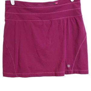 Athleta Pink Relay Workout Tennis Skirt w/Shorts A